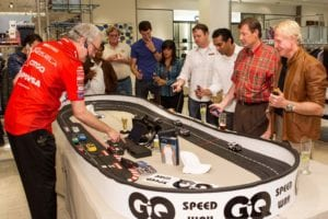Nomad Flying Oval Slot Car Track at Neiman Marcus Event